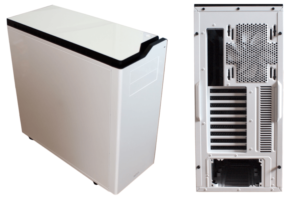 Biała obudowa komputera NZXT H630